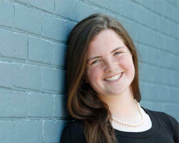 Freshman Rebecca Brodne poses for a professional headshot.