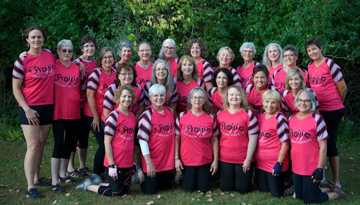 Members of Prairie Dragon Paddlers pose for a team photo.