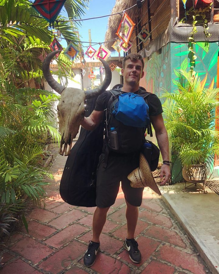 Illinois graduate Matt Schultz poses for a photo during his solo trip around Central America.