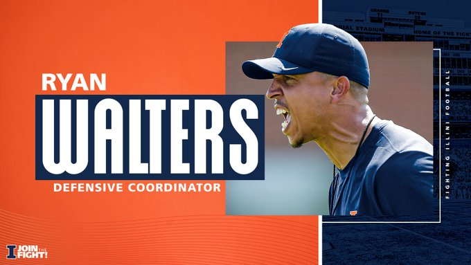 Ryan Walters was announced as Illinois defensive coordinator on Thursday.