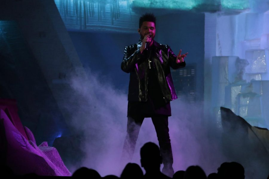 The+Weeknd+performs+during+the+59th+Annual+Grammy+Awards+at+Staples+Center+in+Los+Angeles+on+Feb.+12%2C+2017.+Columnist+Noah+argues+there+are+more+deserving+artists+than+The+Weeknd+to+perform+at+the+Super+Bowl.