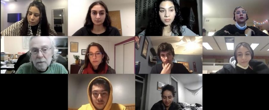 Students discuss the Title VI complaint through Zoom with panelists Martin Levine and Dima Khalidi. Jewish organizations have filed a Title VI federal complaint against the University.
