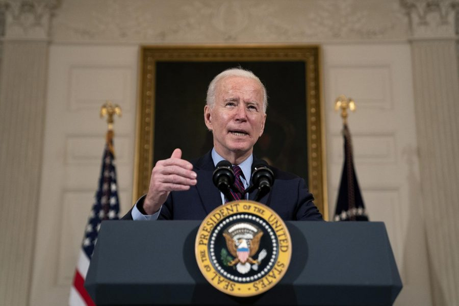 President Joe Biden delivers remarks on the national economy in the State Dining Room at the White House on Feb. 5, 2021. Columnist Matthew advocates for finding common ground between differing political views.