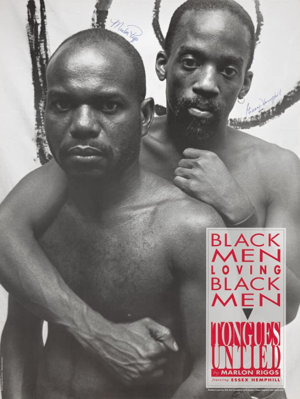 "The cover for the movie ""Tongues Untied"" is pictured above. The film was released in July 1989 and was one of several LBGTQ movies produced by Marlon Riggs."