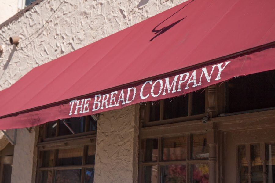 The exterior of The Bread Company is pictured above. The restaurant has been utilizing curbside pickup.