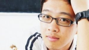 A picture of Ivor Chen posted by the Graduate Employees' Organization petition. Chen was reinstated at the University on Feb. 16.
