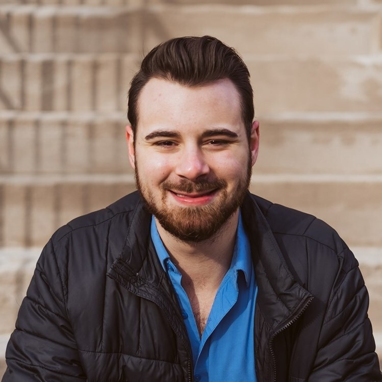 Illinois student Jake Fava poses for a professional headshot. Fava is running for Urbana Ward 1's city council seat.
