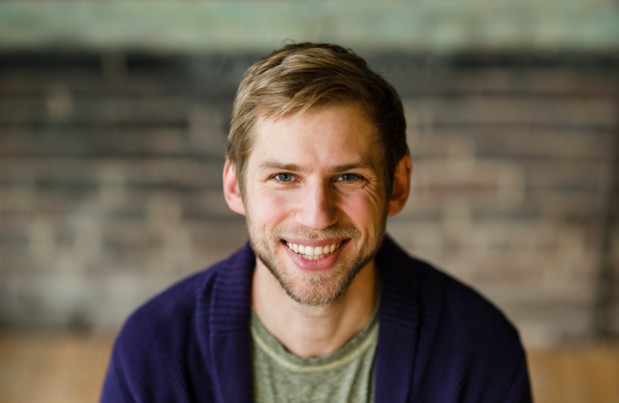iVenture co-founder Noah Isserman poses for a professional headshot. The program assists student entrepaneurs.