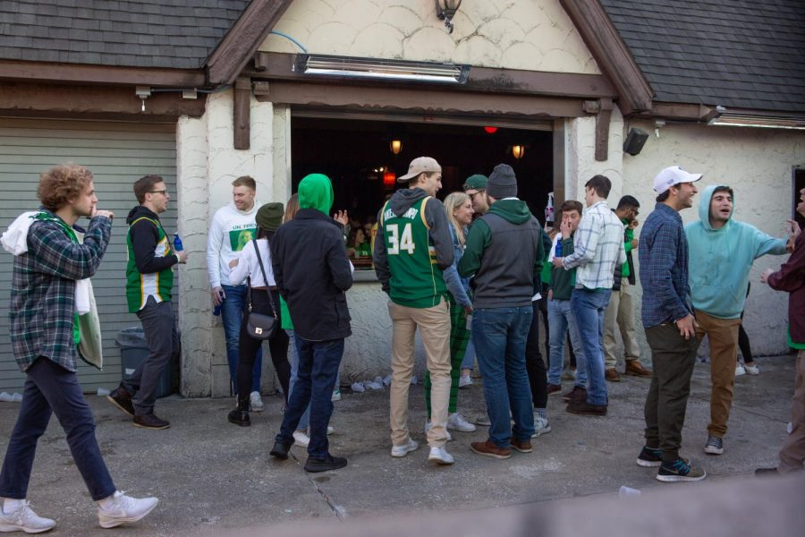 Students celebrate Unofficial at Red Lion on March 6, 2020. Due to the cancellation of spring break, some students plan to gather on campus for St. Patrick's Day when they'd otherwise be traveling or visiting family.