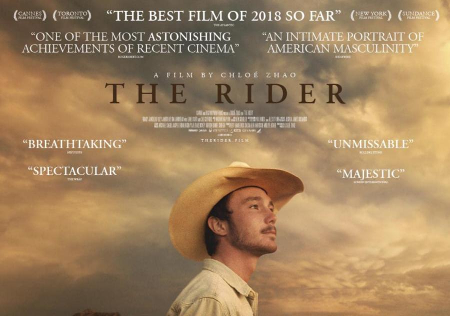 The Rider movie poster starring Brady Jandreau.