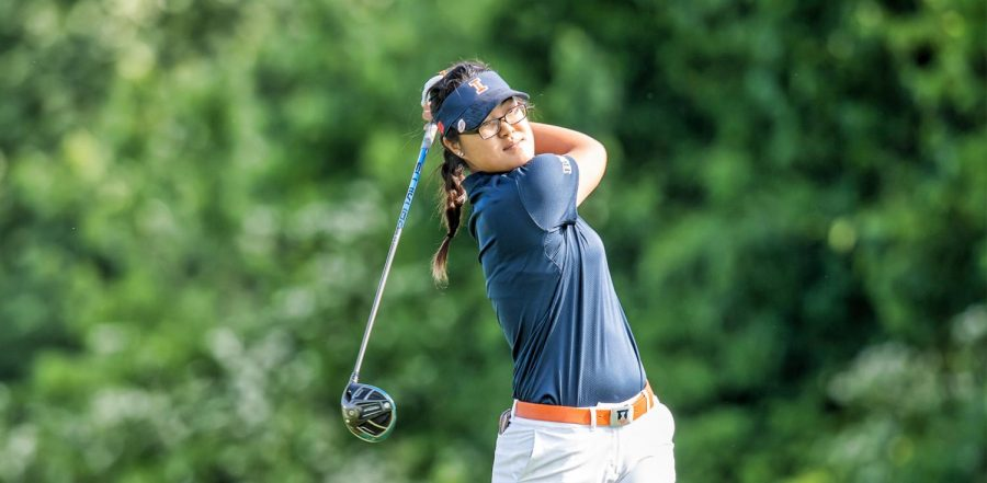 Junior Crystal Wang completes a swing during the third round of the NCAA championships on May 20, 2019. Tristyn Nowlin and Crystal Wang hope for a successful weekend in Sunset, South Carolina for the Clemson Invitational.