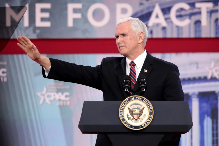 Former Vice President of the United States Mike Pence speaks at the 2018 Conservative Political Action Conference in National Harbor, Maryland on April 22, 2018. Columnist Noah Nelson argues that Pence