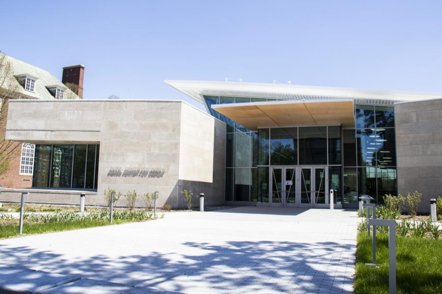 The Siebel Center for Design sits quietly at 1208 S. Fourth Street in Champaign, Illinois on April 25. The Hub for Brand Innovation and Advertising Technology is a new initiative that creates a collaborative workspace for students working toward a professional career.