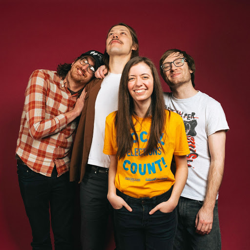 The band Ratboy composed of Julia Steiner, Sean Neumann, Marcus Nuccio and Dave Sagan pose for a photo. Ratboy is releasing a new album for their tenth anniversary and plan to perform it on tour in Europe next year.