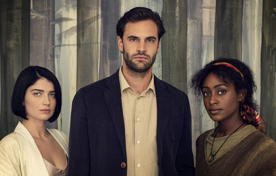 """Eve Hewson, Simona Brown and Tom Bateman star in """"Behind Her Eyes"""". The psychological thriller series was released on Feb. 17."""