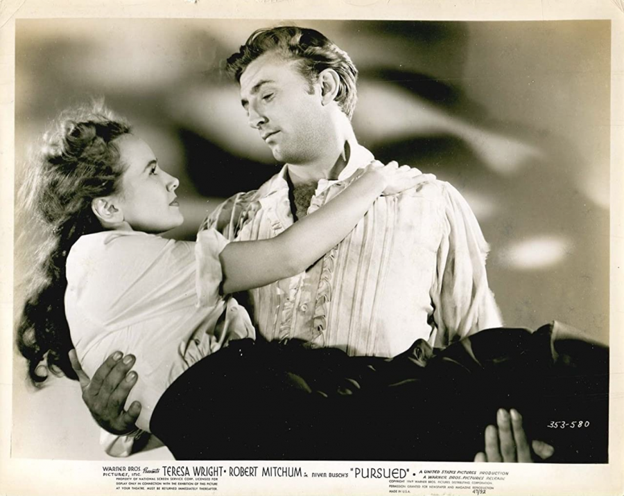 Robert Mitchum and Teresa Wright star in Pursued. The film was released on March 2, 1947.