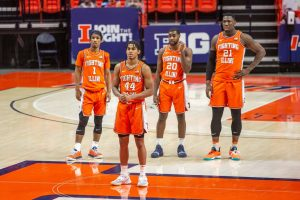 The Illinois men's basketball team waits for what may be called at their game on Jan. 19 against Penn State. Although Illinois basketball will be losing key players, they have transfers coming to the team.