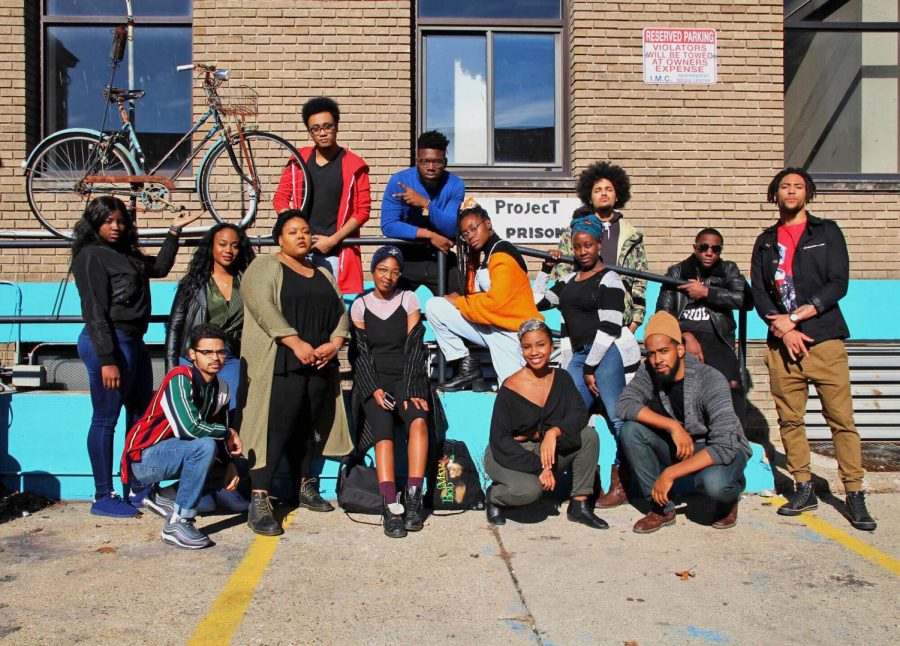 Members of the organization Black Students for Revolution pose for a photo. The organization recently called out the University on their silence regarding police shootings.