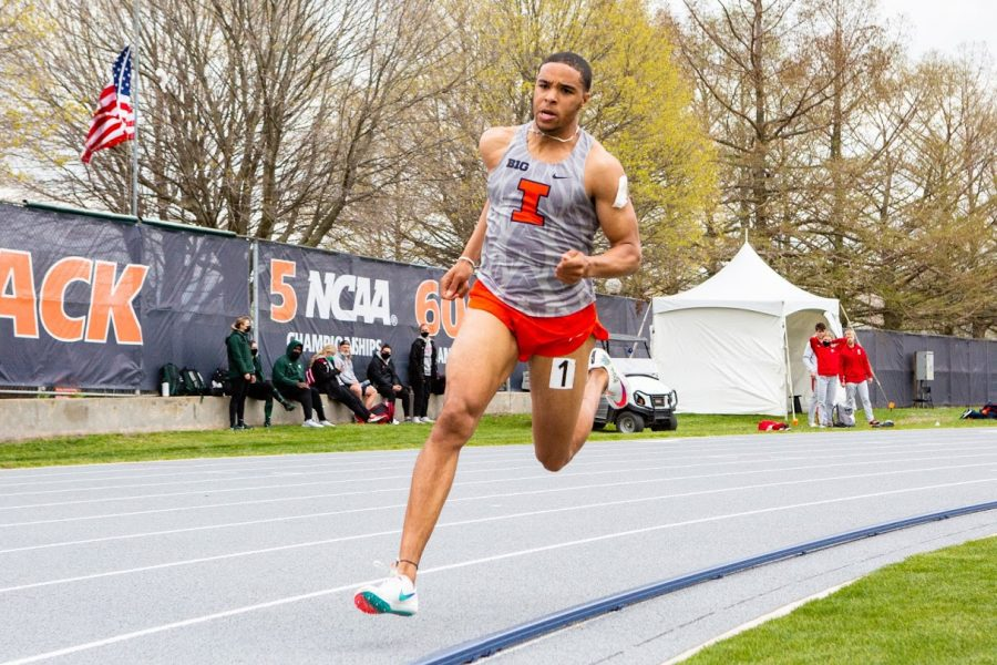 Aman Thornton ran outside on April 23 as a middle distance runner.