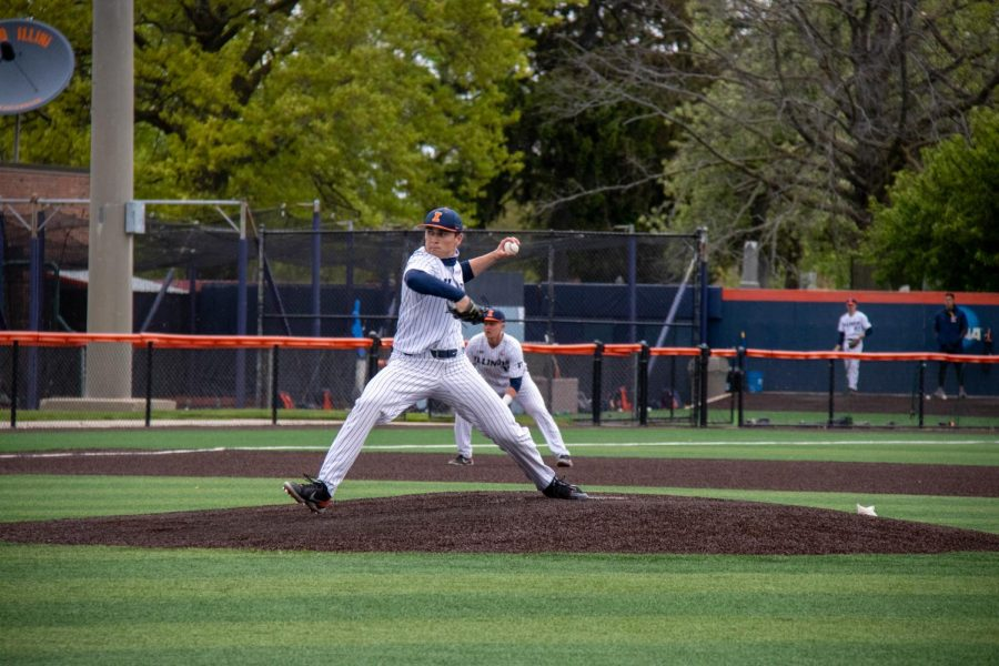 Sophomore Ryan O'hara pitches against Maryland this past saturday.