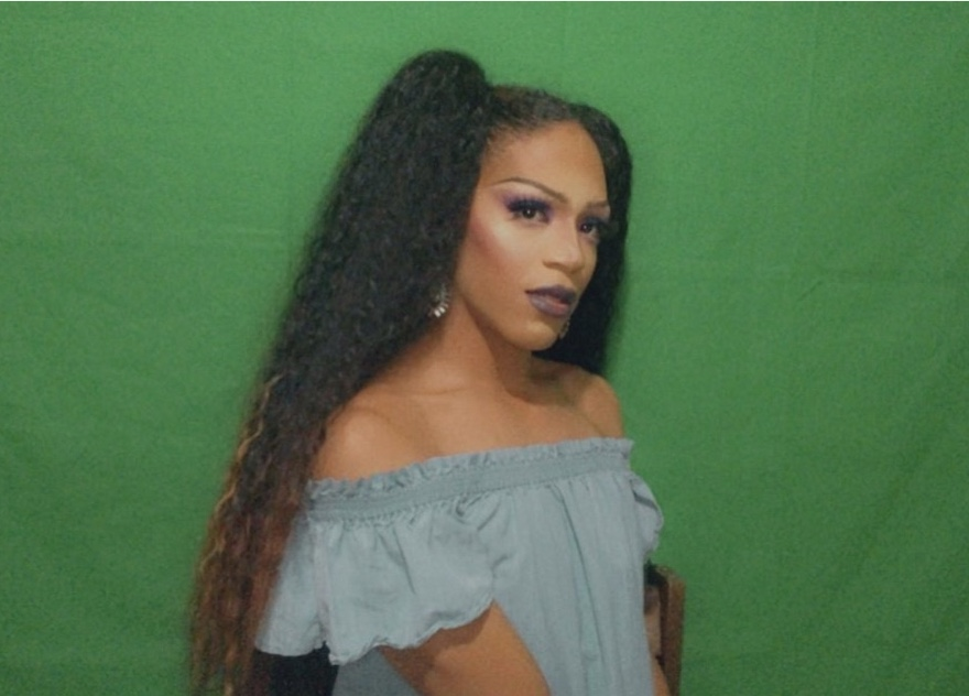 CJ Brown poses in her drag outfit as Karma Carrington, her drag persona. Brown will perform at the Drag Picnic at West Side Park June 5 at 12 p.m.