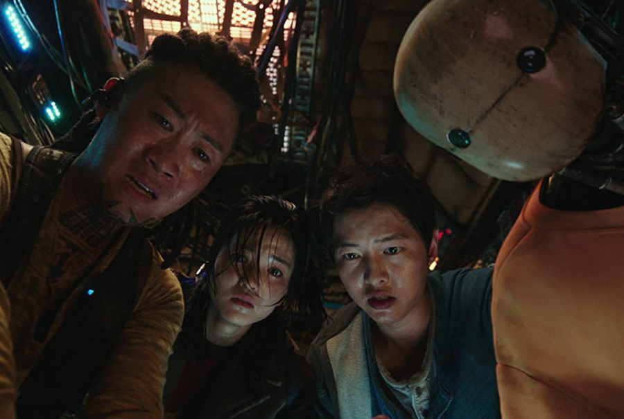 Song Joong-Ki, Kim Tae-ri, and Seon-kyu Jin star in Space Sweepers. The show was released on Netflix Feb. 5.