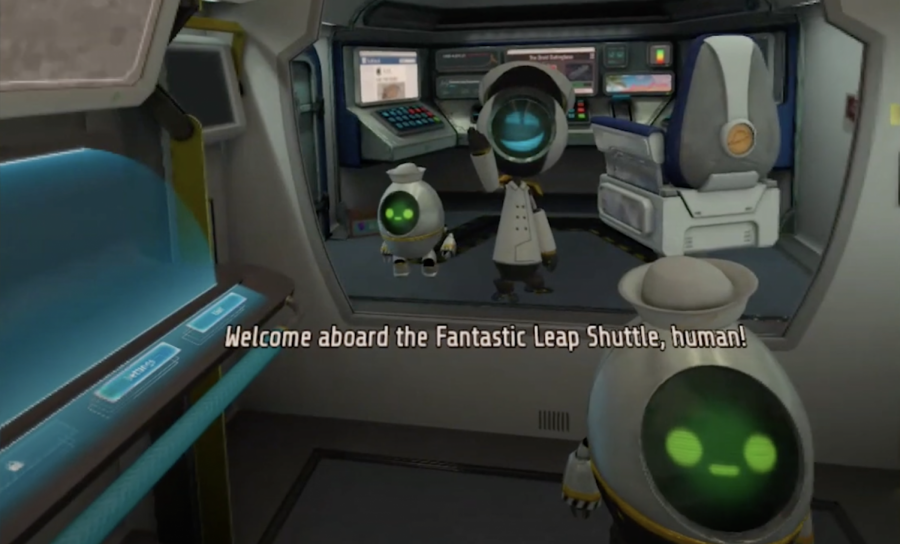 Gameplay from the virtual reality game