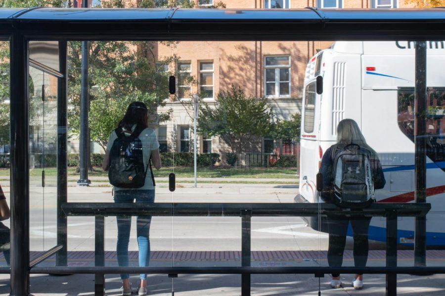 Students wait for the bus at the Illini Union on Oct. 7. Embracing everything that college has to offer will prepare you for a better college transition.