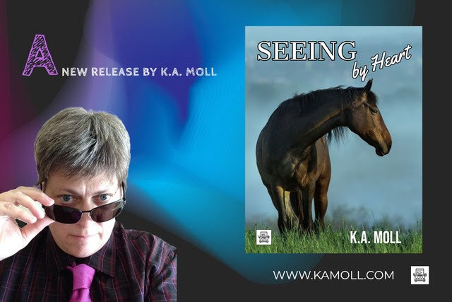 The cover of K.A. Molls new book Seeing by Heart is shown above. Moll strives to include important LGBTQ+ representation in her books.