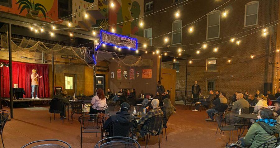 NOLA's Rock Bar outdoor patio houses a Thursday night