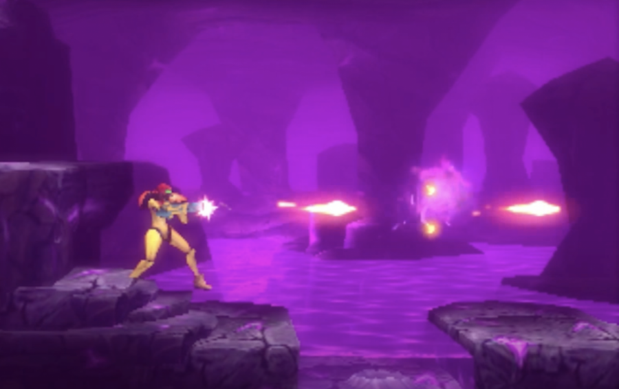 A+screenshot+from+the+video+game+%22Metroid%3A+Samus+Returns%22+is+shown+above.+The+game+was+originally+released+Sept.+15%2C+2017.