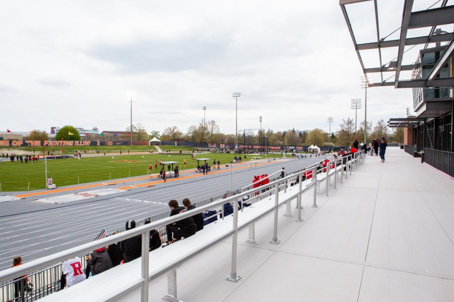 The new Demirjian Park stands at 606 St Marys Road in Champaign April 24. Illinois athletic facilities spark a winning culture on campus.