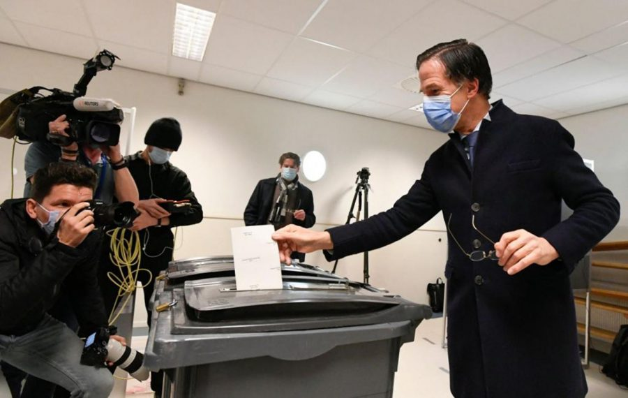 Dutch VVDs incumbent Prime Minister Mark Rutte casts his vote in the 2021 Dutch general elections in the Hague on March 17, 2021. This weeks worldly events are looked at in-depth.
