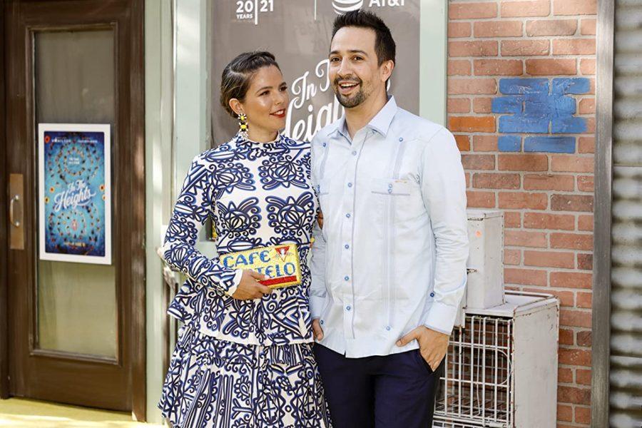 Lin-Manuel Miranda and Vanessa Nadal Miranda attend an event for the film
