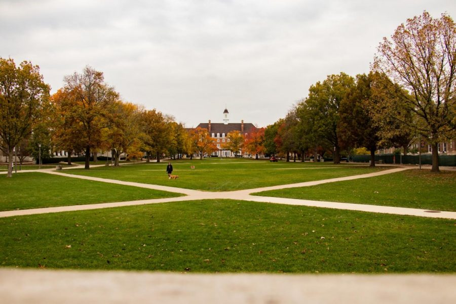 Union Hall looks over the Main Quad on Oct. 29, 2020. The University shares in a mass email that they are working on identifying all human remains that were found on campus.