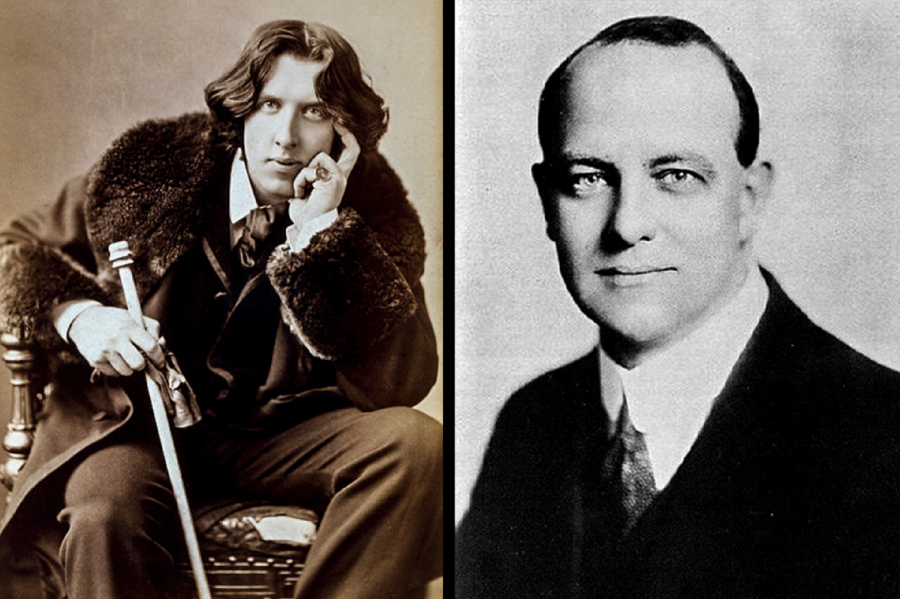 Oscar Wilde (left) poses for a photo in 1852. P. G. Wodehouse (right) poses for a photo in 1904. Columnist Eddie Ryan claims that both authors have many parallels in their work.
