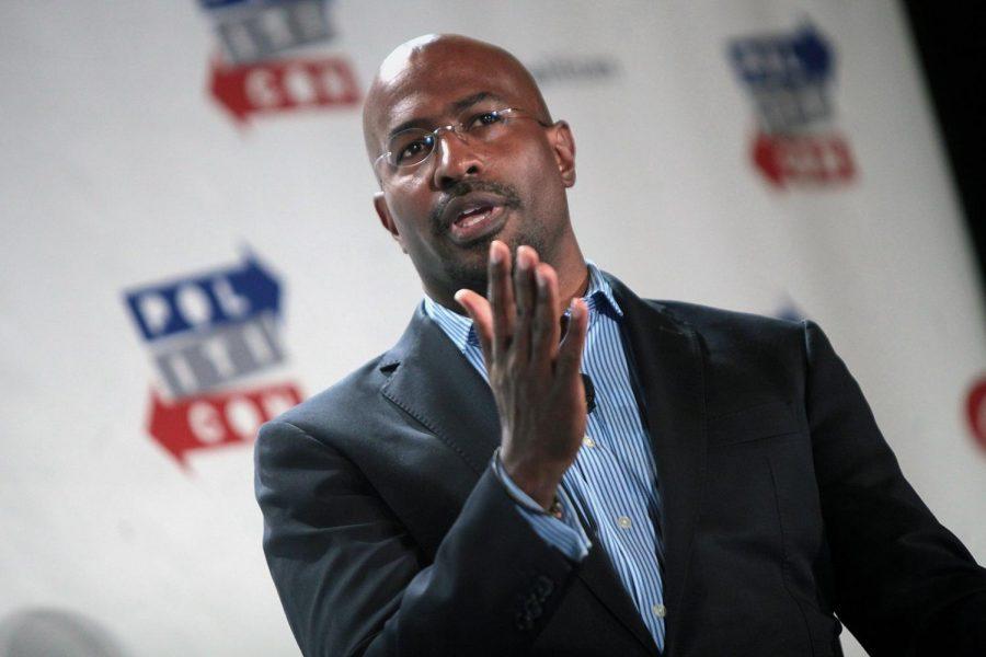 American commentator Van Jones speaks at the 2016 Politicon at the Pasadena Convention Center in Pasadena, California. Columnist Samuel Rahman urges Jones to spend his money wisely.