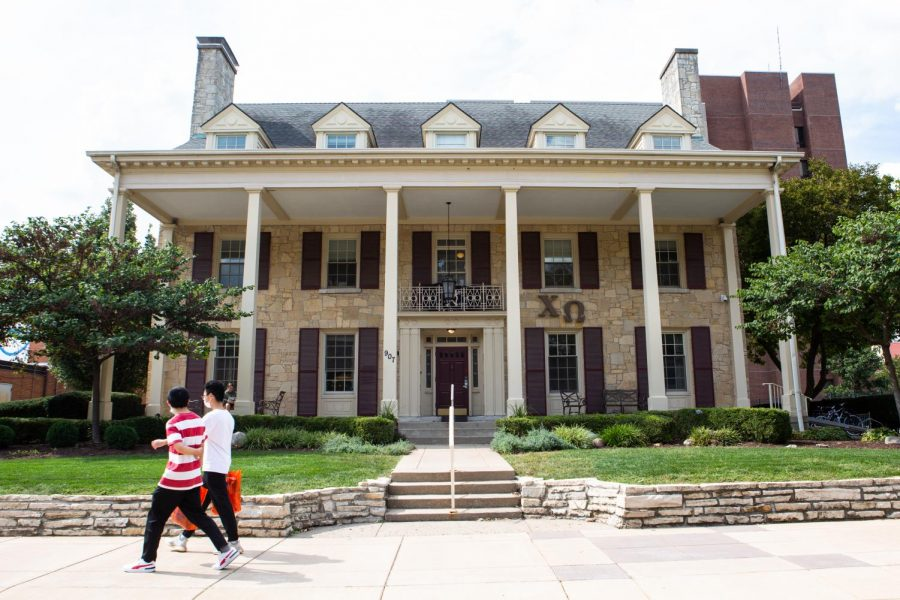 The Chi Omega sorority house is a part of the panhellenic organization and one of the many houses that fosters community within students especially because of this years in-person rush process.