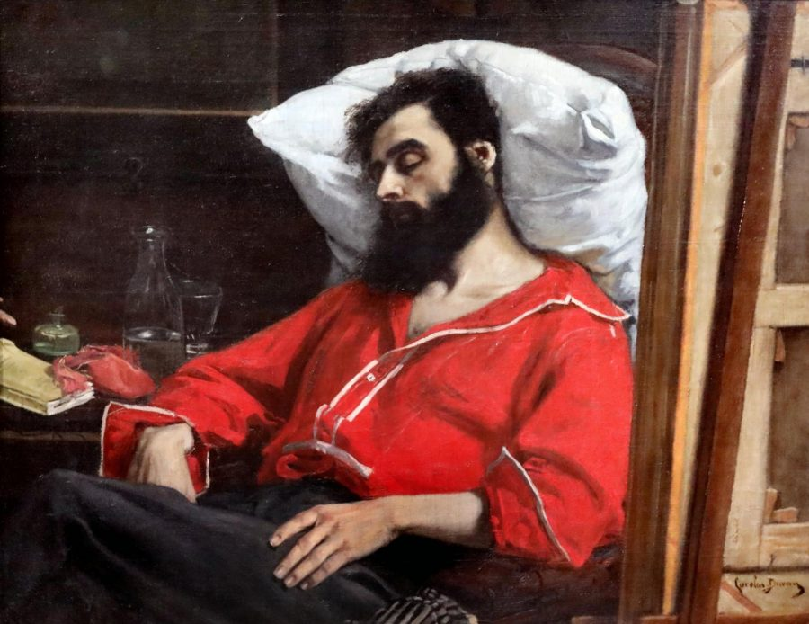 A painting of a sleeping man called Le Convalescent ou le Blessé by artist Carolus Duran is shown above. Columnist Eddie Ryan supplies readers with notes from a convalescent.