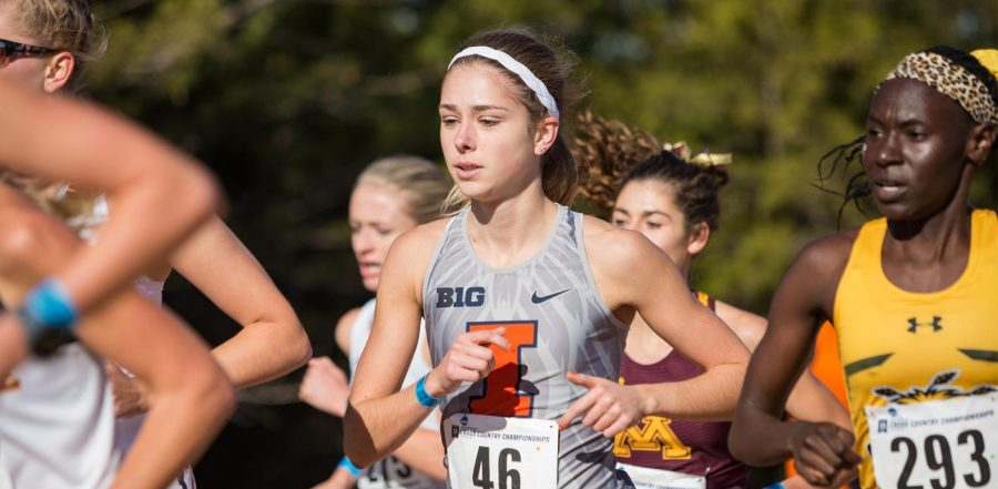 Graduate student Allison McGrath runs in a Championship race. McGrath and other graduate students will be running for the upcoming season.