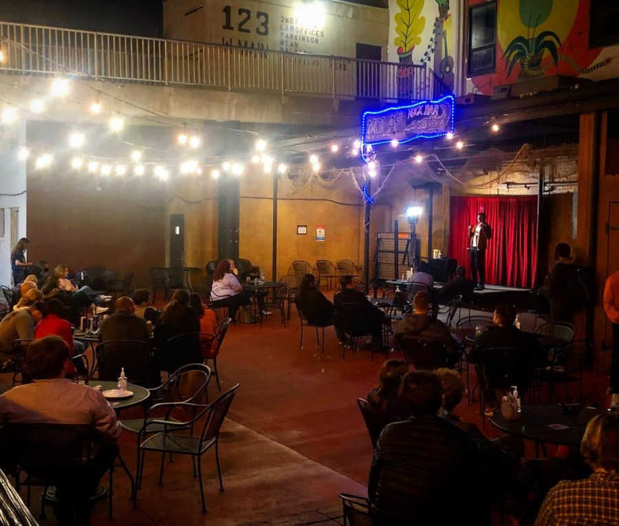 Open mic night at C-U Comedy lets people share what they have to say. C-U Comedy is bringing back its open mic nights at NOLAs Rock Bar and Pizzeria Antica.