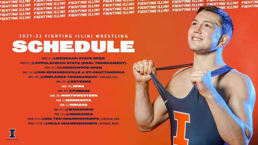 The Illinois Wrestling Team released their schedule for the upcoming season. The team will have dual with teams that are nonconference meets.