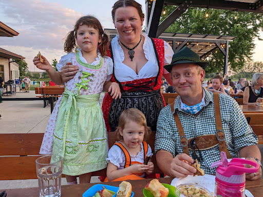 Matt Riggs poses for a photo at the annual beer festival, held annually at Riggs Beer Company in Urbana. The festivities are inspired by Germany's original Oktoberfest and celebrates German culture and tradition.
