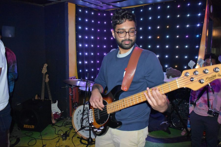 Aditya Kashyap from The Data Waves performs bass. The Data Waves are performing in Bloomington Sep. 3 and have an EP coming out this fall.