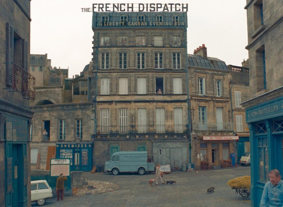 The still from Wes Andersons The French Dispatch is shown above. The film, starring Bill Murray, Frances McDormand and Timothée Chalamet, was one of many shown at the Chicago Film Festival last week. The film premieres in the U.S. Friday.