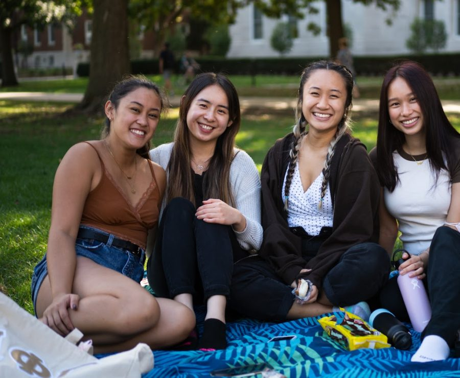 From left to right Valerie Villanueva (Junior in FAA), Mona Tang (Senior in LAS), Jane Pham and Kristina Nguyen (Juniors in LAS) share their thoughts on trick-or-treating.