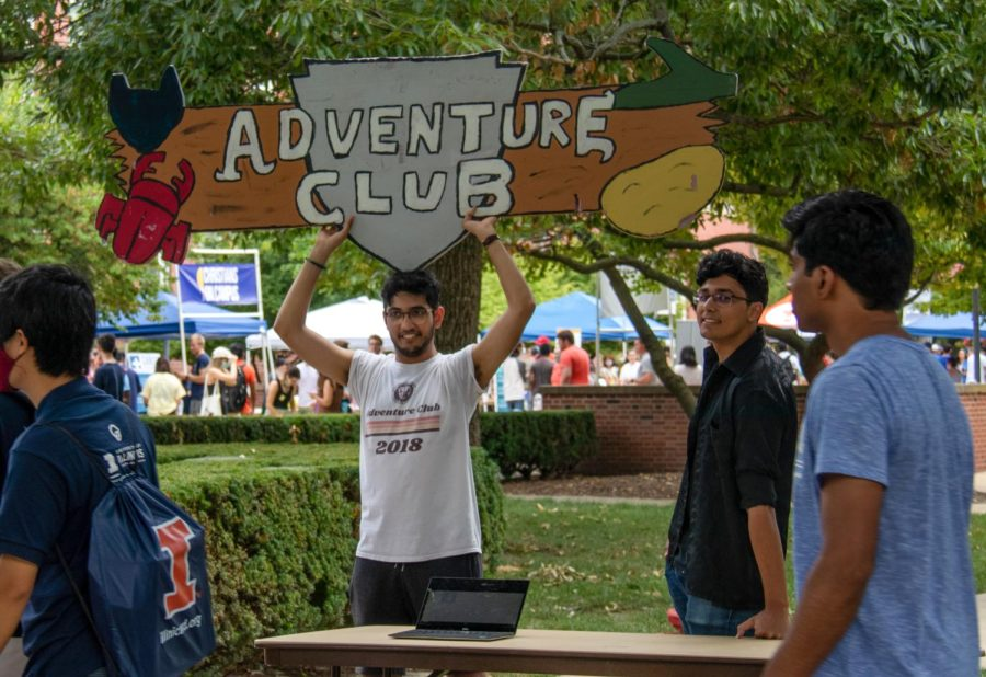 The heavily social RSO, Adventure Club, promotes their group at Quad Day on Aug 22. Multiple RSOs reflect on the difficulty of working remotely during Covid-19.