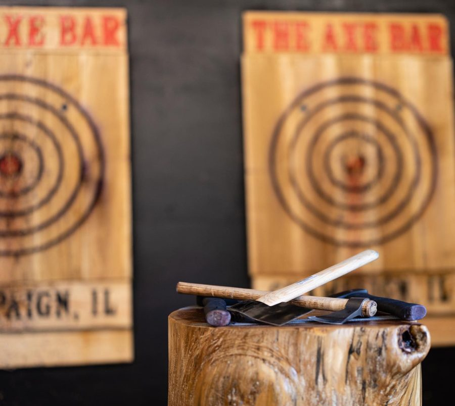 The Axe Bar is an axe-throwing bar that opened this summer in Champaign. The bar has already seen huge success, says Axe Bar owner Ryan Kern.