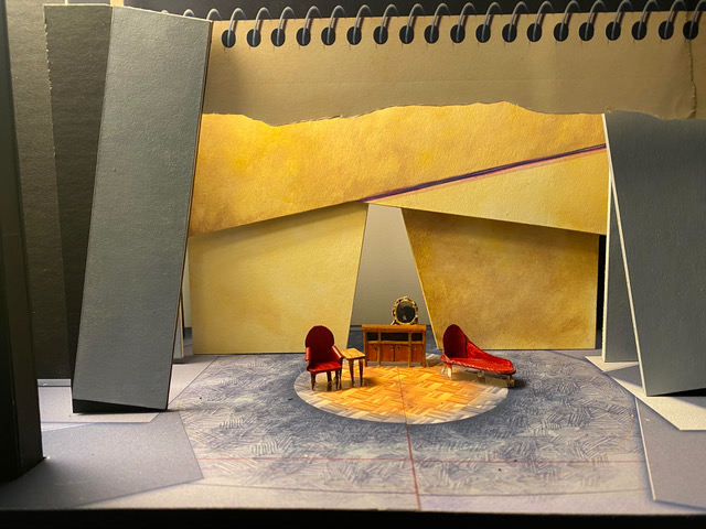 """A mock set for the at the Krannert Center for the Performing Arts upcoming musical Fun Home"""" is shown above and was created by scenic designer José Díaz-Soto. Representation is reoccurring theme in the musical."""