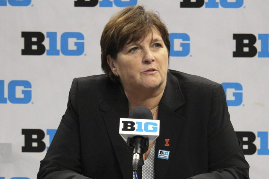 At Big Ten Media Days on October 7, Illinois womens basketball head coach Nancy Fahey speaks to media about the team and upcoming season.
